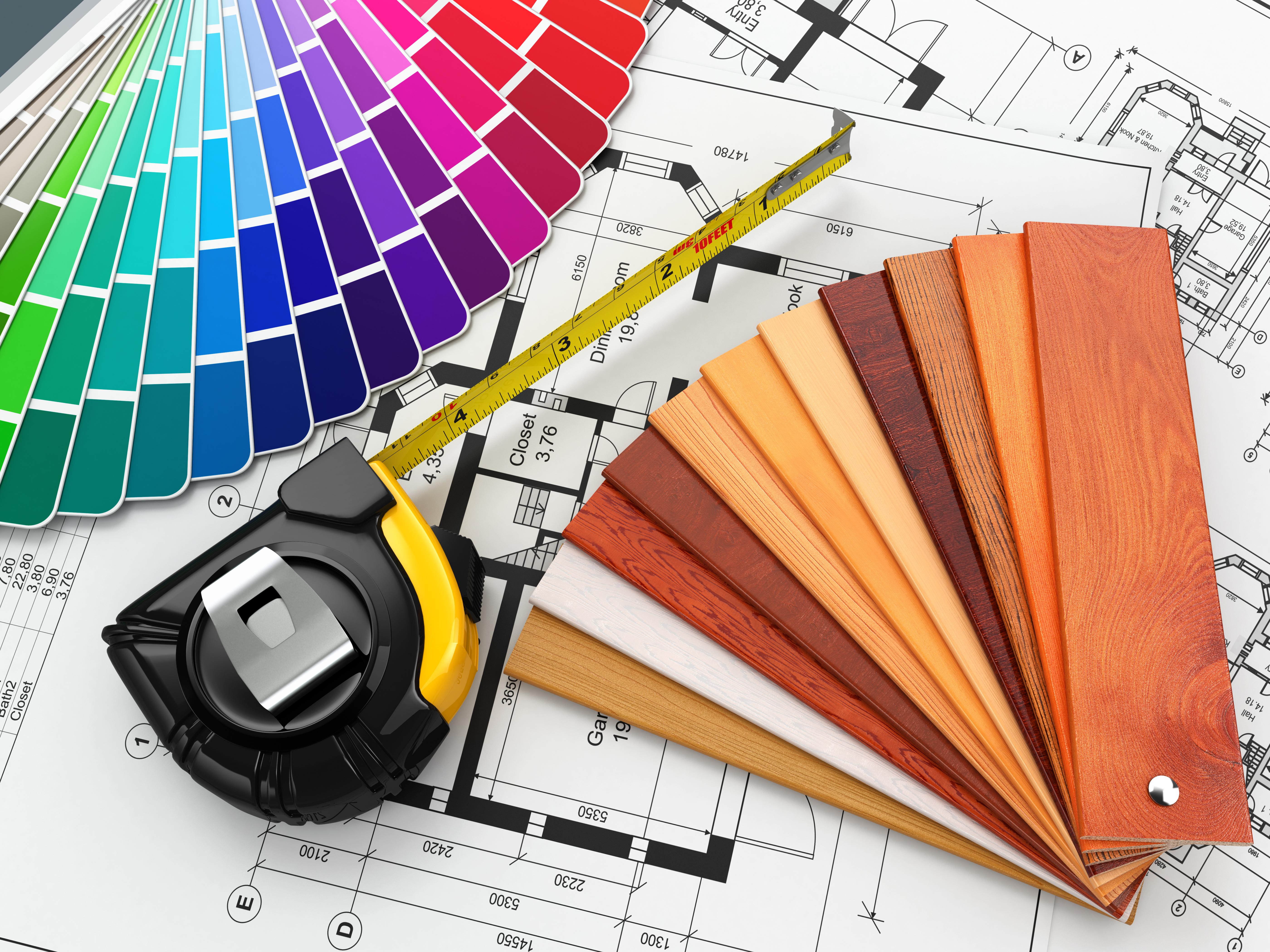 Дизайн интерьера материалы